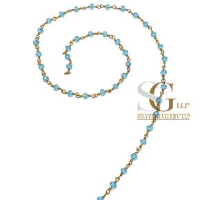 RBG006 Brass Rosary Chains With Glass Beads Price Per Meter