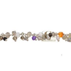 RSG144 Silver Rosary Chains With Natural Beads Price Per Meter