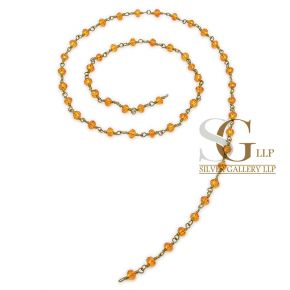 RBG011 Brass Rosary Chains With Glass Beads Price Per Meter