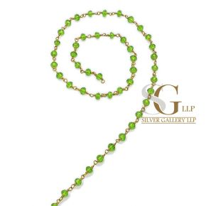 RBG012 Brass Rosary Chains With Glass Beads Price Per Meter