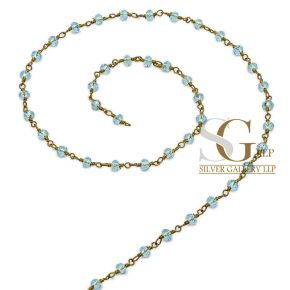 RBG034 Brass Rosary Chains With Glass Beads Price Per Meter