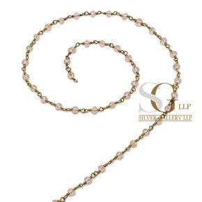 RBG035 Brass Rosary Chains With Glass Beads Price Per Meter