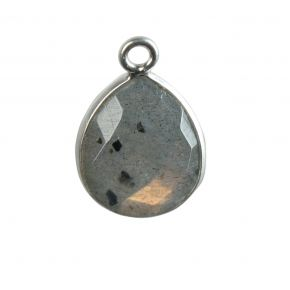 B0451 925 Sterling Silver Bezel Connectors Natural Stone