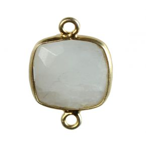 B0454 925 Sterling Silver Bezel Connectors Natural Stone
