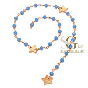 RBG007 Brass Rosary Chains With Glass Beads Price Per Meter