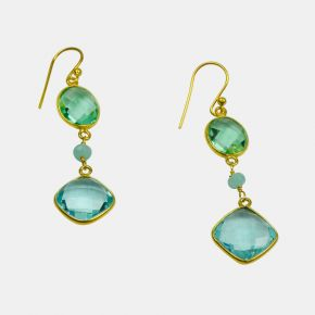Gold Stone Earring GSE0033