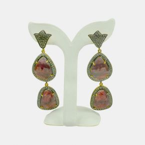Gold Stone Earring GSE0078