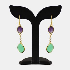 Gold Stone Earring GSE0081